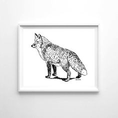 """Woolf With Me™ Woodland Fox Poster, 8""""x10"""", Gender Neutral, Wall Decor – Woolf With Me®"""