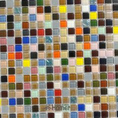 express shipping free!! 4mm multi colors crystal glass mosaic tiles, swimming pool tiles, HME6107, 11 sq ft/lot