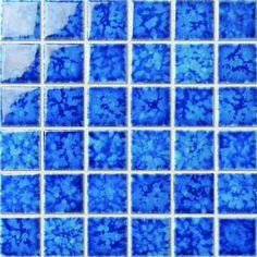 48x48mm dark blue glazed ceramic swimming pool mosaic tile dairy house pool pinterest for Swimming pool tile manufacturers