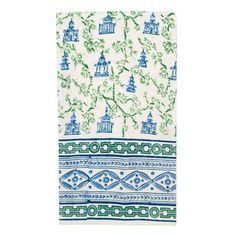 Pagoda Blue/Green Tea Towels (Set of 2)