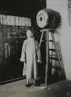 Daoist monk at the Santaidong near Nanjing, China; ca. 1900. Visit www.rumisgarden.co.uk to shop for our Islamic crafts.  #Taoism #Mysticism #Spirituality #Daoism #Mysticism #Esoterism #Religion #God