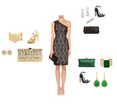 Outfit Posts: style q: accessorizing lace dress for black-tie wedding