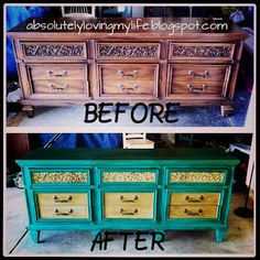 Loving Life: Annie Sloan Chalk Paint Furniture Redo - from dresser to TV stand