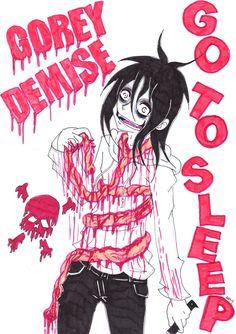 Jeff the killer... gory nightmare~