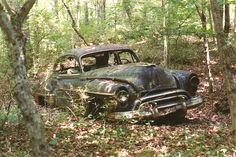 Oldsmobile in the woods