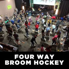 Four Way Broom Hockey - Youth Downloads - youth games, tribal warfare, tribes