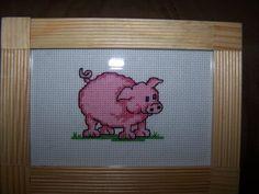 cross stitch pig