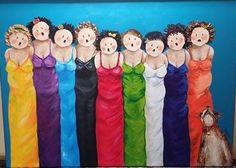 Woensdag 14 mei Lente Fair én expositie in de Tiekerhook  - Zorggroep Sint Maarten Painting Of Girl, Fabric Painting, Plus Size Art, Funny Paintings, Acrylic Painting Tips, People Illustration, Fat Women, Naive Art, People Art
