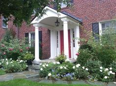 Classic Portico on Brick Colonial traditional-entry