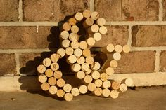 Wine Cork Ampersand - make for Mr. & Mrs. Chair Ribbon