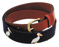 He'll display his Louisiana pride with this hand-stitched Smathers and Branson belt available at Perlis.