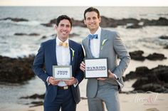 Cabo Gay Wedding - Cute signs - could use for a Thank you note.