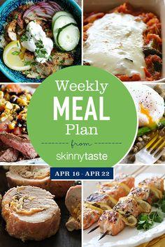 Skinnytaste Meal Plan (April 16-April 22)