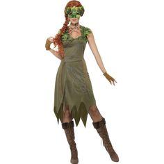 DasGeheimnisvolle Waldfee Kostüm für Damen besteht aus einem Kleid sowie fransigen Handschuhen.Wer an Karneval und auf Motto-Feiern eine Lady im Geheimnisvolle Waldfee Damenkostüm entdeckt, der fragt sich, wo im finsteren Walde diese elegante Gestalt lebt. Das lange Kleid ist gezackt, grün und mit braunen Stofffetzen gestaltet. Graue Äste als Motive und grüne Blätter als Besatz an den Schultern machen das mysteriöse Kleid zum Blickfang. Die braunen Handschuhe komplettieren das…
