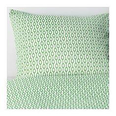 IKEA - RÖDVED, Funda nórd y 2 fundas almohada, 240x220/50x60 cm, , Al ser de una mezcla de poliéster y algodón, la tela se encoge y arruga menos.