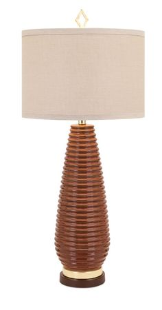 Ribbed Warm Toned Table Lamp