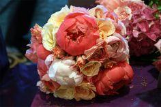 Asian, Peony, Wedding, Bouquet, Pink, Yellow, White