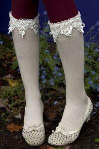 Sock Dreams: Lace Knee High Bootsock