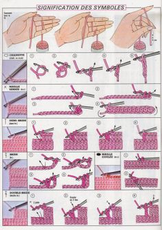 68 Ideas Knitting Basics Stitches Tunisian Crochet For 2019 Easy Crochet Stitches, Crochet Stitches For Beginners, Knitting Basics, Tunisian Crochet, Crochet Basics, Knitting For Beginners, Knit Crochet, Filet Crochet, Double Crochet