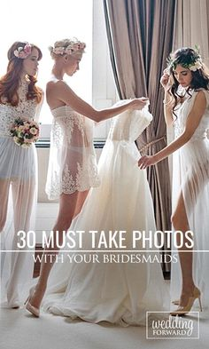 Bridesmaids are your best friends and supporters. Make sure to have fun on your wedding day and capture all the special moments with these must-take wedding photos ❤ See more: http://www.weddingforward.com/must-take-wedding-photos-with-bridesmaids/ #weddings #photography #bridesmaids