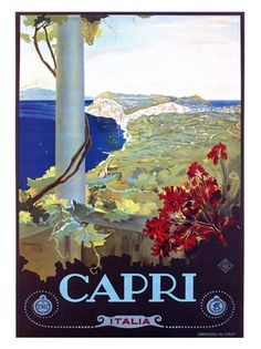 Vintage Capri Italia Italy Art Vintage travel poster art from the scenic destinations America,Europe,Asia and around the world. Poster Art, Retro Poster, Kunst Poster, Poster Prints, Art Posters, Custom Posters, Vintage Italian Posters, Vintage Travel Posters, Vintage Postcards