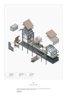 This pin was discovered by tzu-shyang lin. Architecture Collage, Architecture Graphics, Architecture Student, Architecture Drawings, Architecture Design, Axonometric Drawing, 3d Modelle, Architectural Section, Collage Illustration