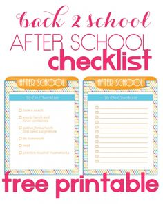 Back 2 School craziness no more!  Grab this free After School Checklist and calm the stormy seas of after-school-ness!