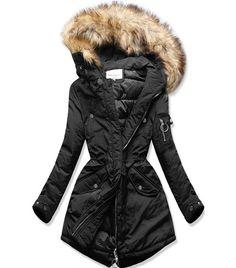 Dámska zimná bunda s kapucňou čierna - Bundy - MODOVO Canada Goose Jackets, Mantel, Clothes For Women, Fashion, Panty Hose, Boots, Wraps, Fashion Clothes, Recipes