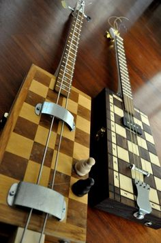 "CIGAR BOX GUITAR ""Castling"" & ""The Checkmate""                                                                                                                                                      More"