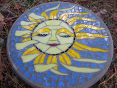 Summer Breeze  Handmade Stained Glass and Concrete by HippMosaics, $100.00