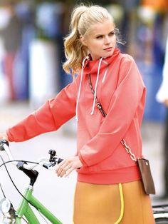 burda style -- high collar sweatshirt