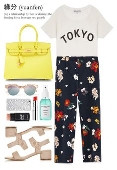 TOKYO by laughtersassassin on Polyvore featuring polyvore fashion style Wildfox Zara Topshop Hermès Felony Case Le Specs Chantecaille Sachajuan clothing Summer