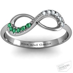 I want this!! ~ Its Carters birthstone! Infinity Mothers Ring