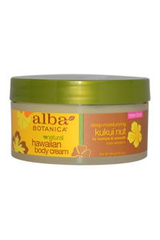 hawaiian kukui nut body cream by alba botanica 6.5 oz