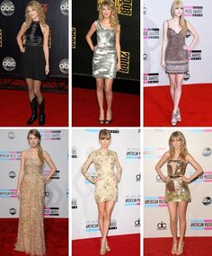 Taylor Swift at the AMAs throughout the years
