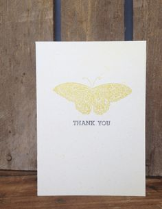 Simple Butterfly Thank You Card, Stampin' Up