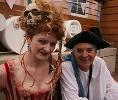 Doug and Deb Hobbs perfect their Pirate look at the Bristol Harbour Festival media hospitality area