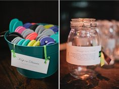 Message in a bottle from your guests - I LOVE this idea...