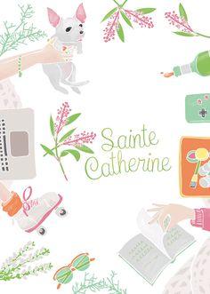 carte de ste catherine Les 75 meilleures images de Sainte Catherine, carte vive la sainte