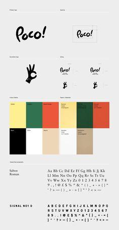 Brand identity for Poco! – A Sicilian street food takeaway. Brand Identity Design, Graphic Design Branding, Brochure Design, Brand Guidelines Design, Logo Guidelines, Brand Design, Corporate Branding, Corporate Design, Identity Branding
