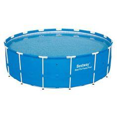 Bestway Steel Pro Frame Pool Set, 15' x 48 inch, Blue