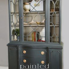 Antique China Cabinet in Annie Sloan Chalk Paint
