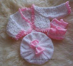 Baby Knitting Pattern - Girls Download PDF Pattern - PDF Knitting Pattern -  Baby Girls or Reborn Doll - Sweater, Hat & Shoes
