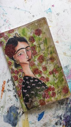 Check out this item in my Etsy shop https://www.etsy.com/listing/209146673/frida-hand-painted-journal-with-ruled