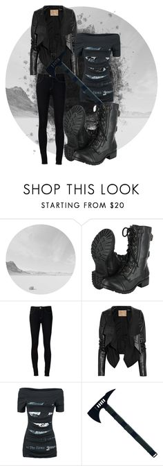 """""""Hatchet"""" by riotofthedamned ❤ liked on Polyvore featuring Ström, Max Azria and Alchemy England"""