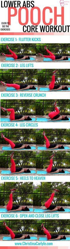 Lower Abs Pooch Core Workout **That's actually doable. Even for beginners!