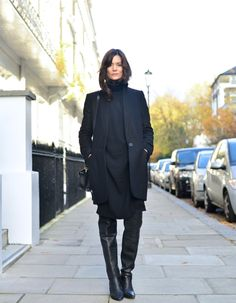 Winter chill has slowly arrived and this week I've wrapped up in layers of wool. I've also rediscovered the practicality of thigh high boots that are th