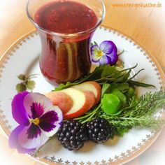 Kraut, Smoothie, Panna Cotta, Healthy Recipes, Ethnic Recipes, Food, Blackberries, Peach, Healthy Eating Recipes
