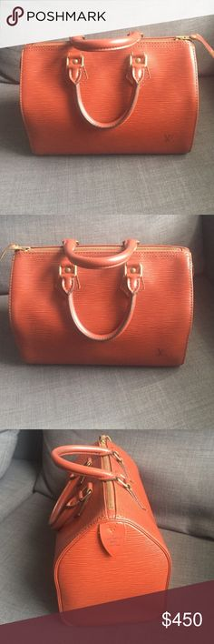 Epi speedy 25 Amazing bag authentic. Good condition. Clean inside and out. Minimal wear. Beautiful rich color. Additional pics in listing next to this one Louis Vuitton Bags