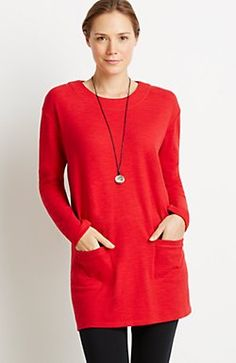 Pure Jill sueded lounge tunic
